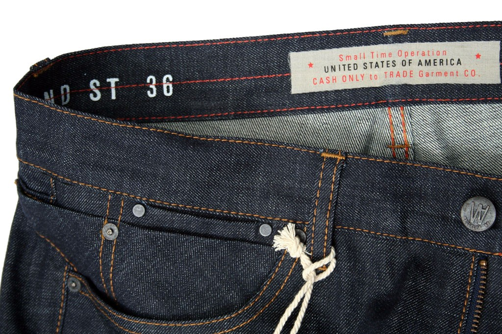 The model name, waist size and a message are on the interior of Williamsburg's waistbands.