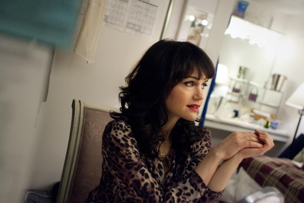Carla Gugino in her dressing room.