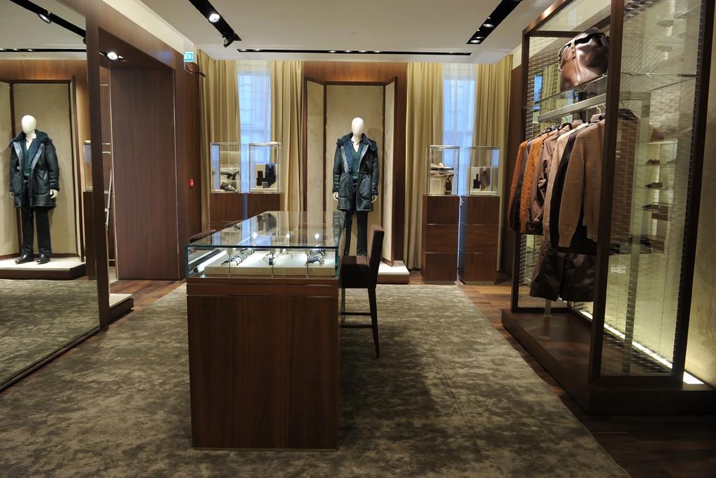 The Ferragamo boutique in Milan.