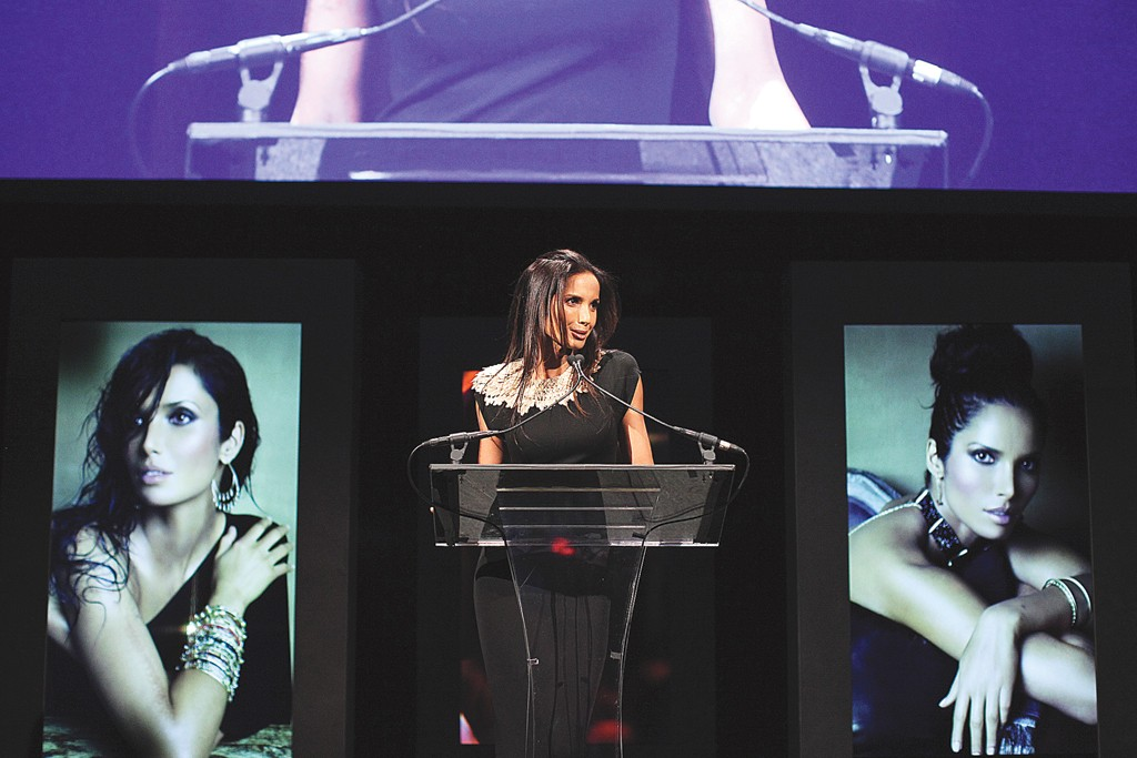 Padma Lakshmi at the GEM Awards.