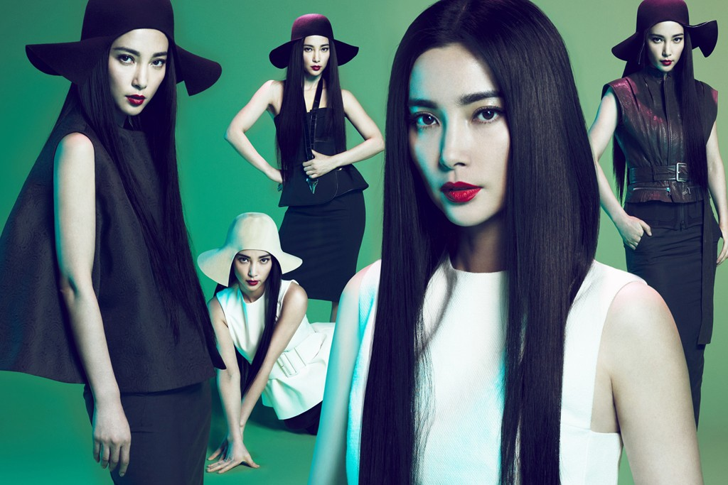 An image from the Lane Crawford campaign featuring Li Bing Bing.