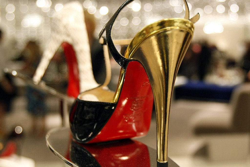 A Christian Louboutin shoe.
