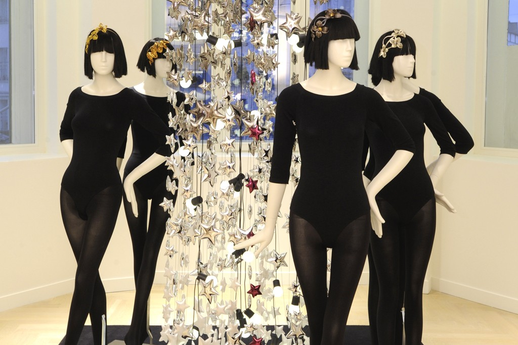 A display in Le Bon Marché's new first-floor lingerie department.