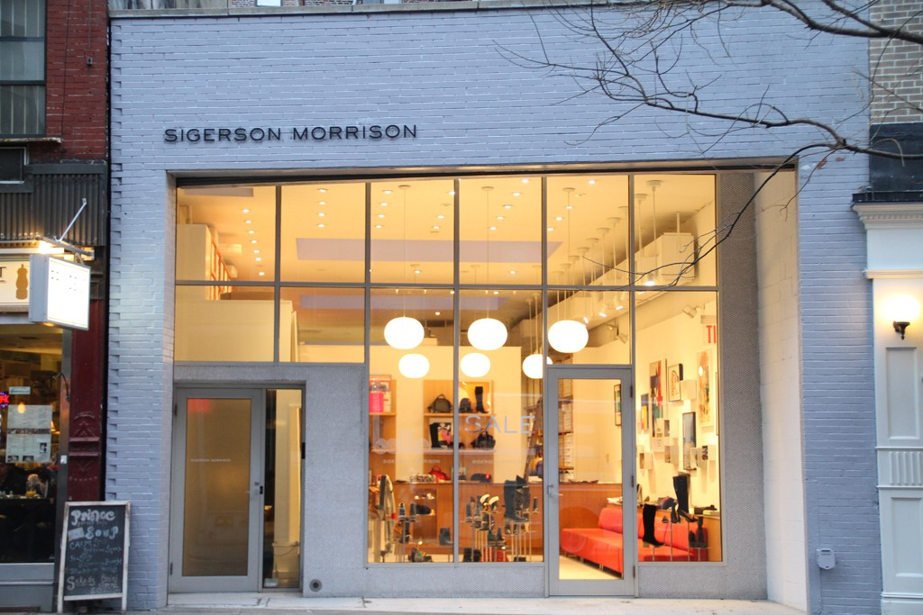 Sigerson Morrison Store on Prince Street in New York City.