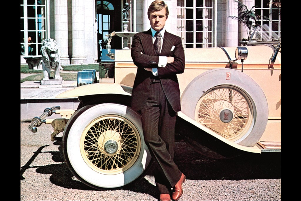 Robert Redford as Gatsby in 1974.