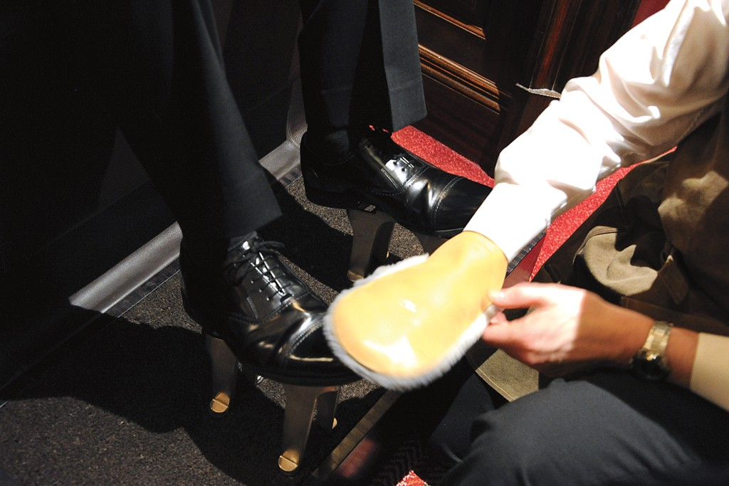 The Connaught's $47 shoe shine.