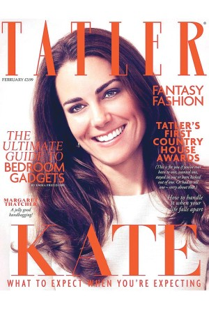 The February Tatler cover.