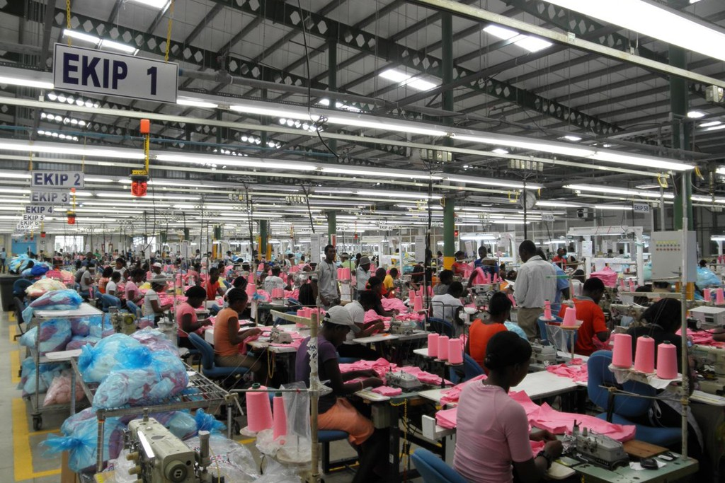 An apparel factory in Codevi Industrial Park.