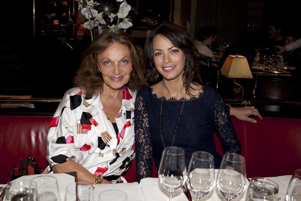 Diane Von Furstenberg and Bérénice Bejo in Diane Von Furstenberg