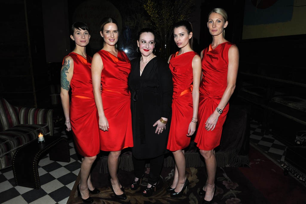 The waitstaff at Rose Bar wearing Sophie Theallet with the designer