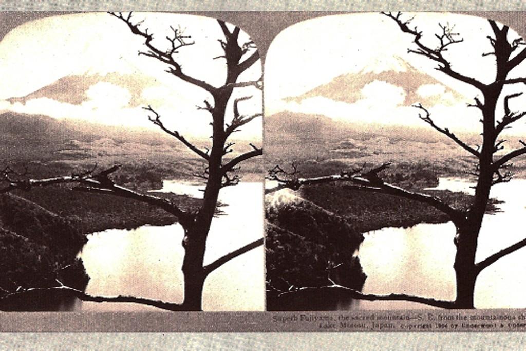 """""""Superb Fujiyama, the sacred mountain."""" — Mona Kowalska, A Détacher"""