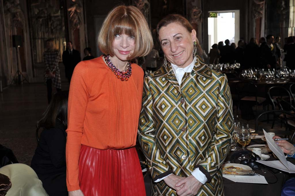 Anna Wintour and Miuccia Prada