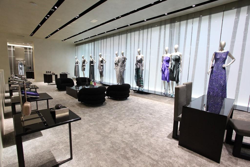The Giorgio Armani Madison Avenue flagship store.