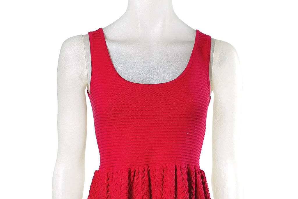 A red cotton tank dress from Moon.