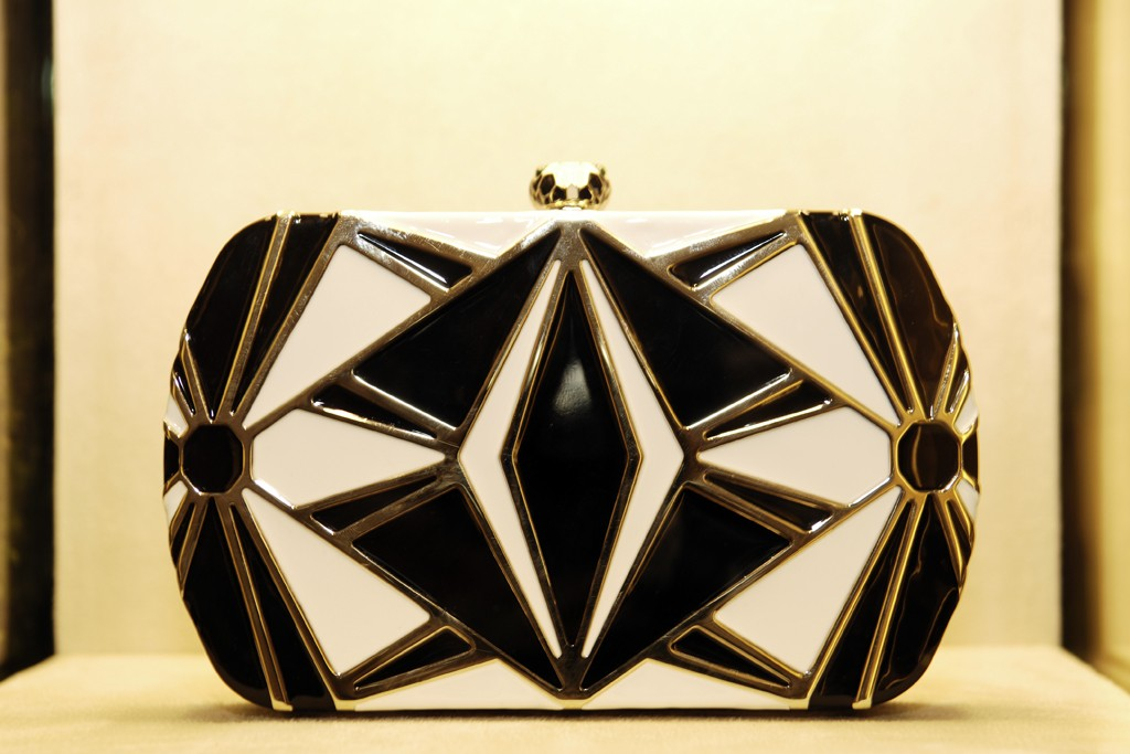 A clutch from Bulgari's Serpenti collection.