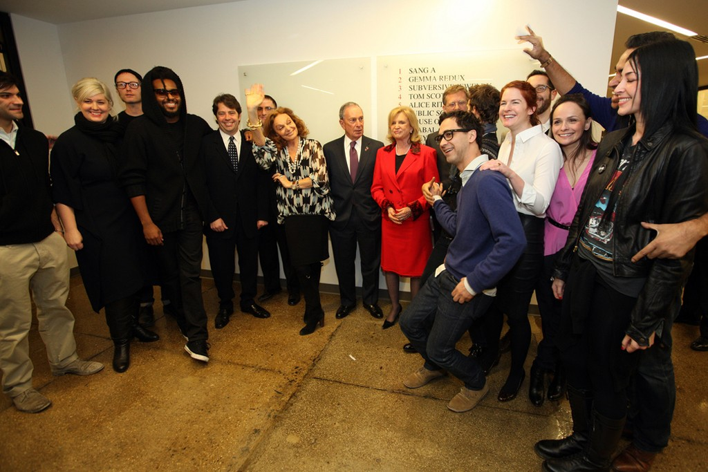 Mayor Bloomberg joins Diane von Furstenberg to discuss latest efforts to support fashion industry and economic impact of fashion week.