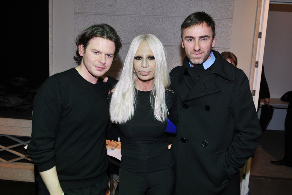 Christopher Kane, Donatella Versace and Raf Simons