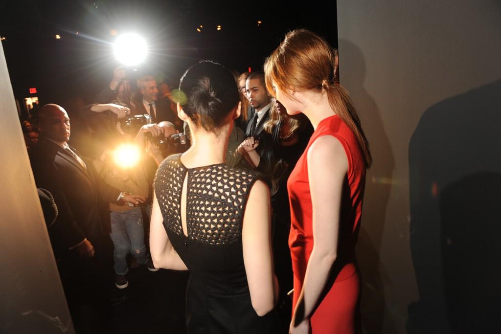 Rooney Mara and Emma Stone