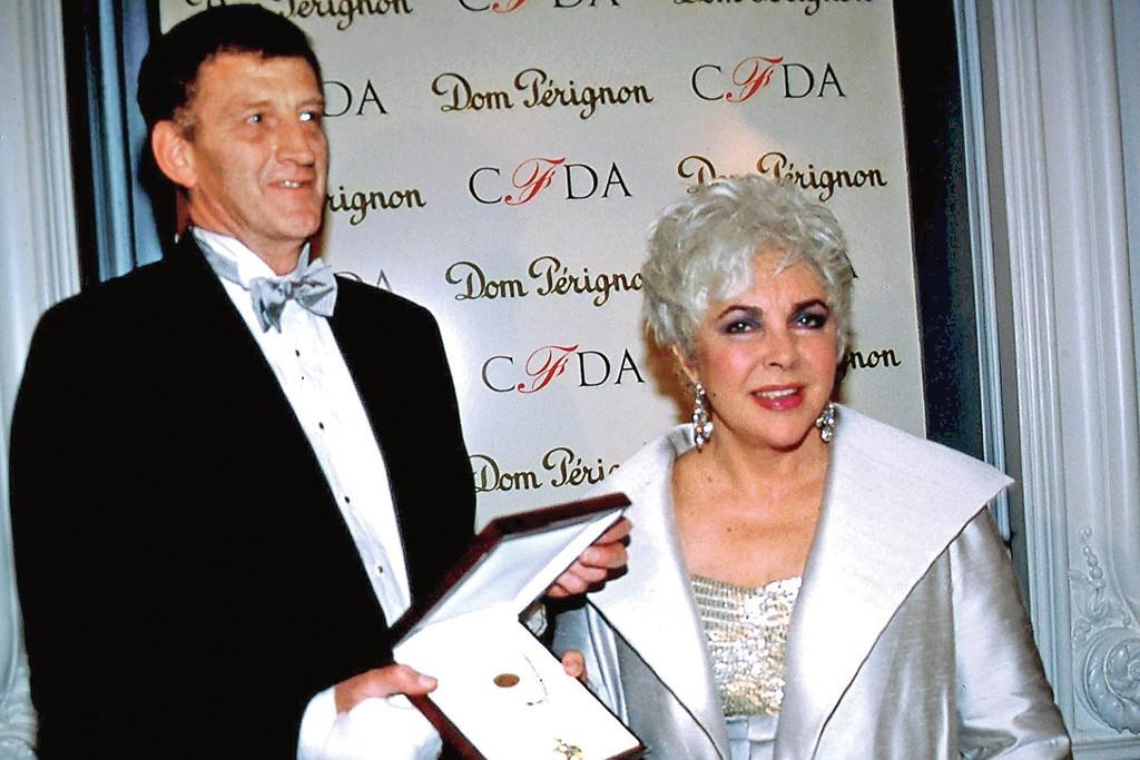 Peter England with Elizabeth Taylor