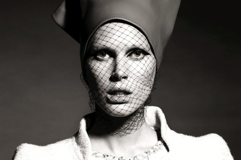 """A photo of Iselin Steiro from Peter Farago and Ingela Klemetz-Farago's book, """"Northern Women in Chanel."""""""