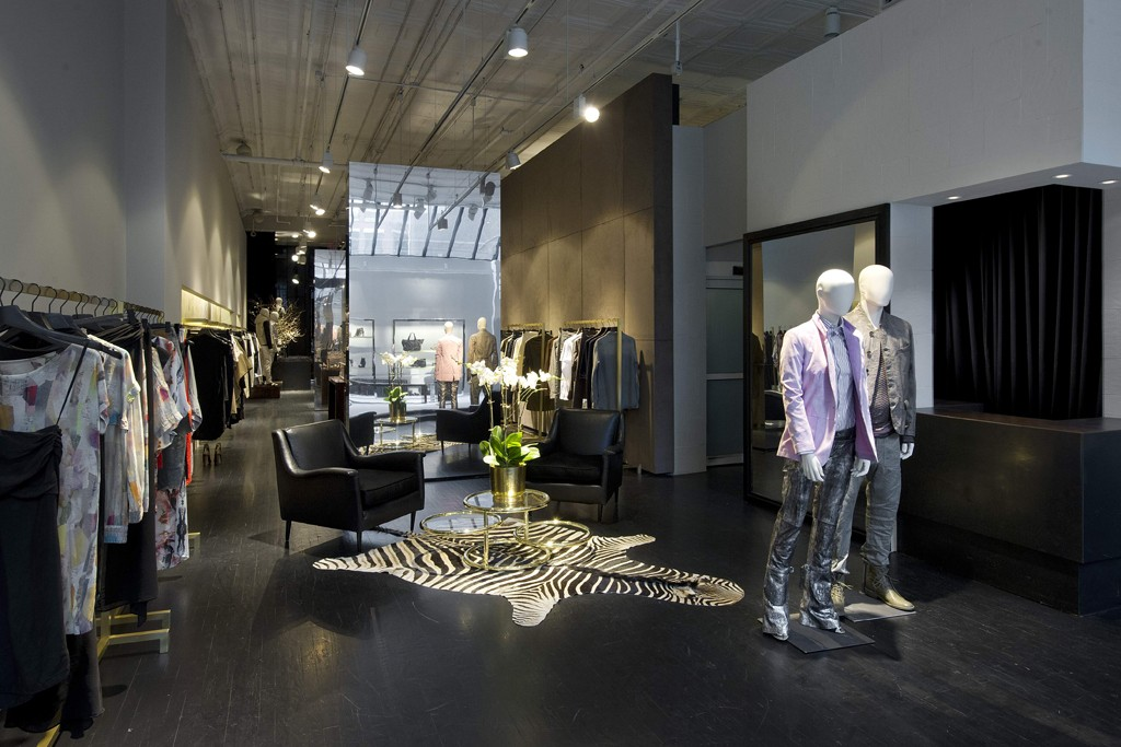 Inside the first Diesel Black Gold store.