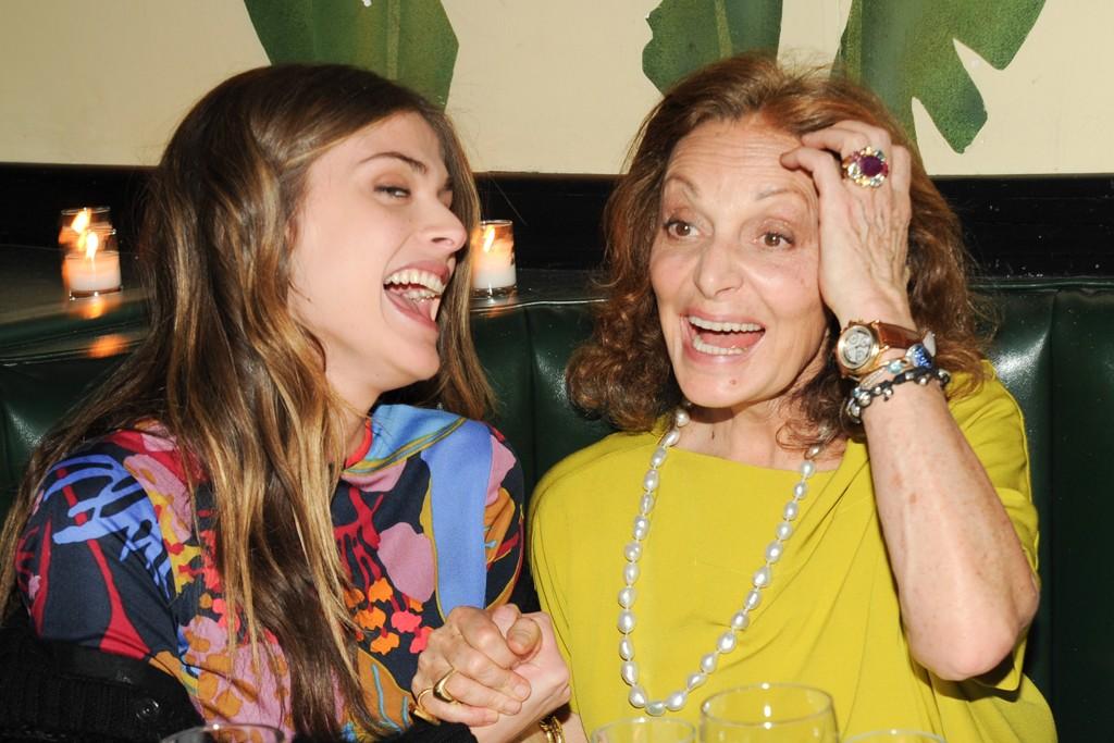 Elisa Sednaoui and Diane von Furstenberg