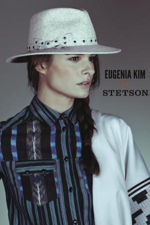 An image from the Eugenia Kim for Stetson campaign starring Marina Muñoz.