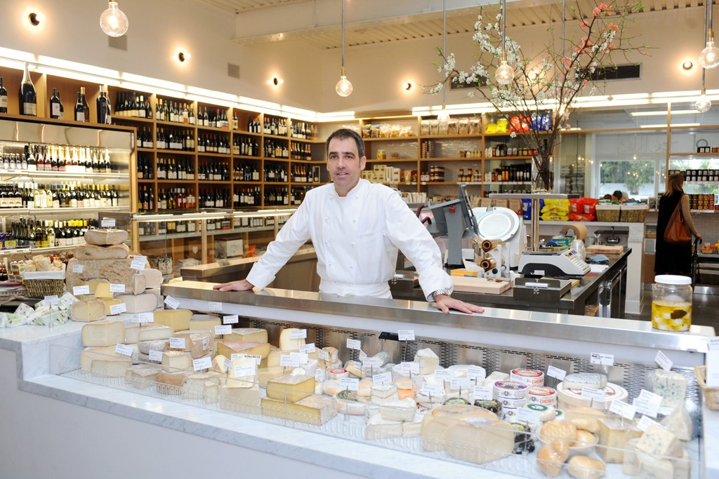 Jeff Cerciello behind the cheese counter at Farmshop.
