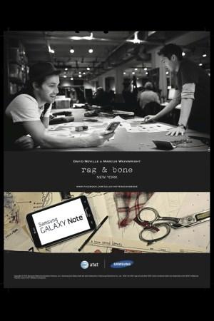 A Rag & Bone ad for the Samsung Galaxy Note.