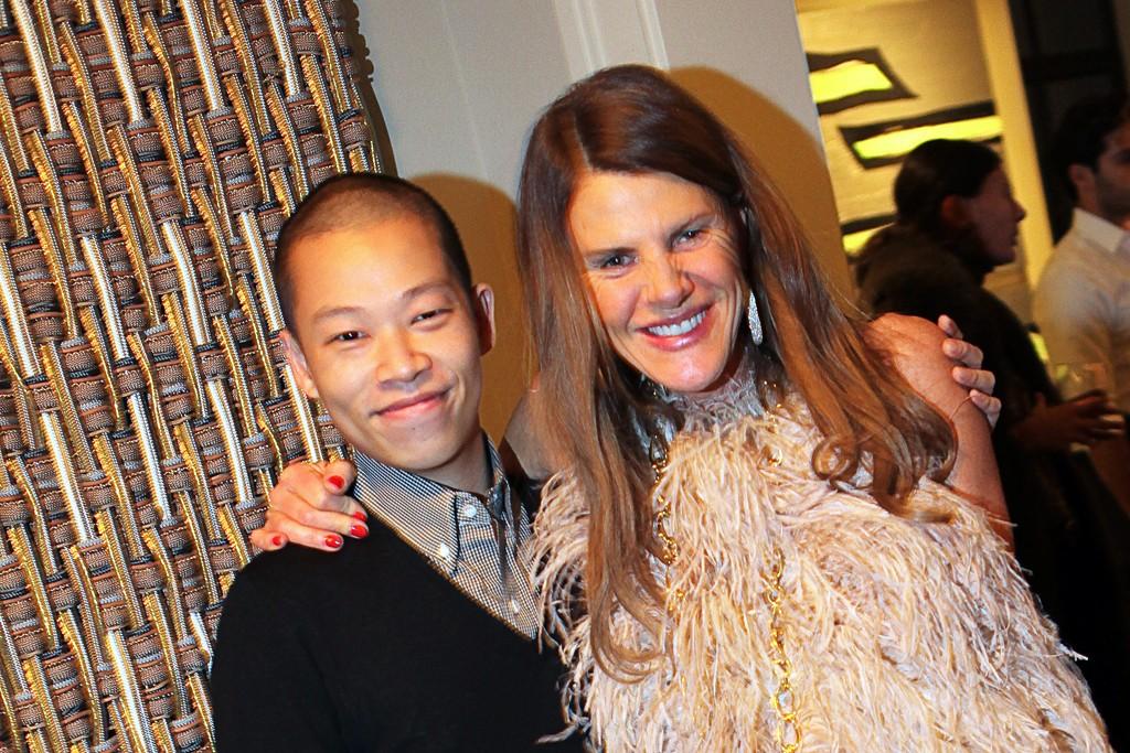Jason Woo and Anna dello Russo