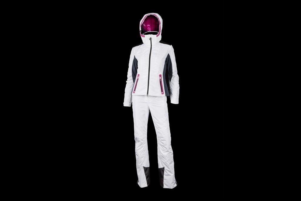 EA7 Hi-performance ski jacket & pant by Giorgio Armani in white.