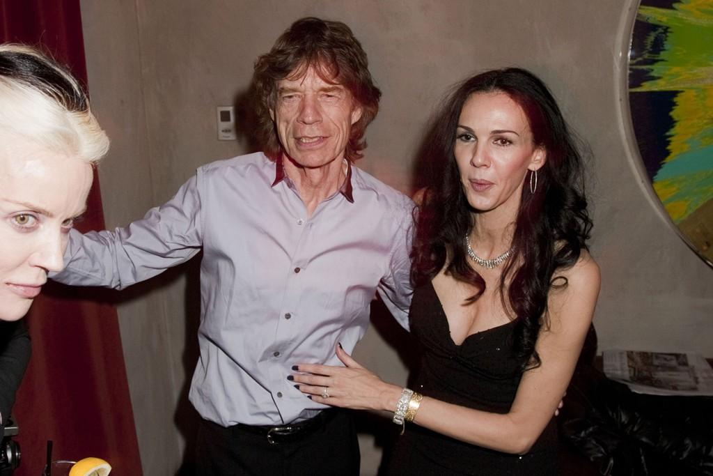 Daphne Guinness, Mick Jagger and L'Wren Scott