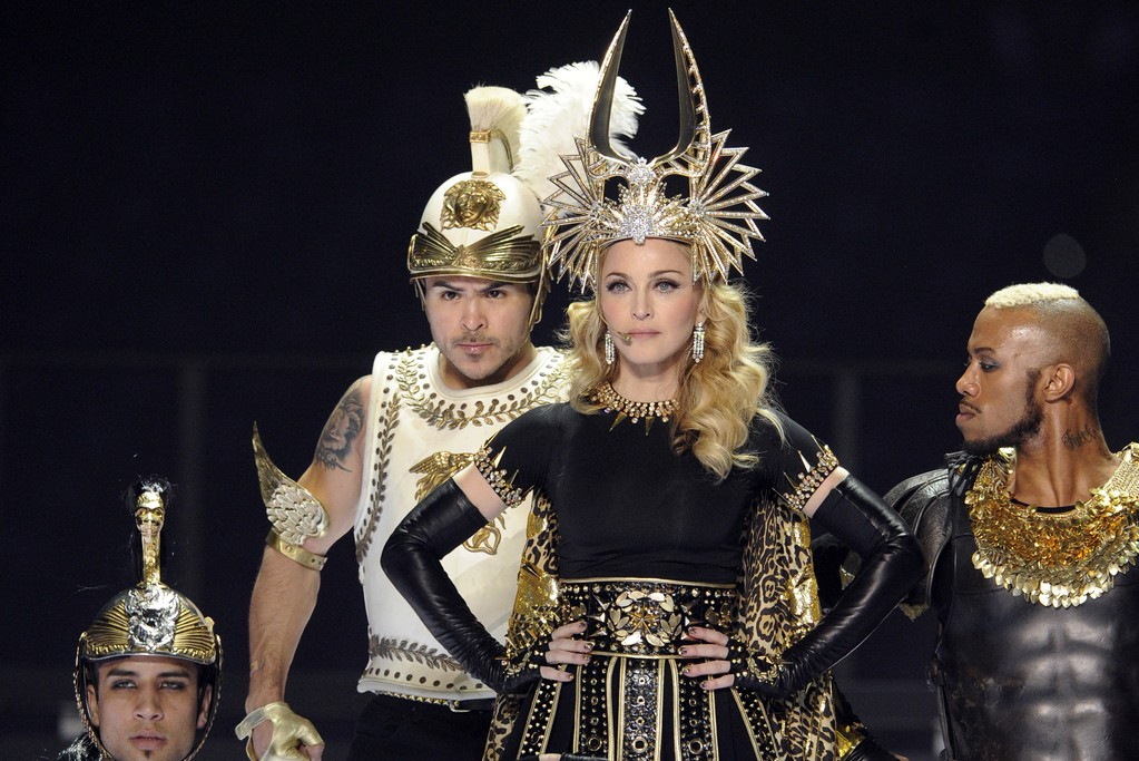 Madonna in Givenchy Haute Couture by Riccardo Tisci  at the Super Bowl 2012.