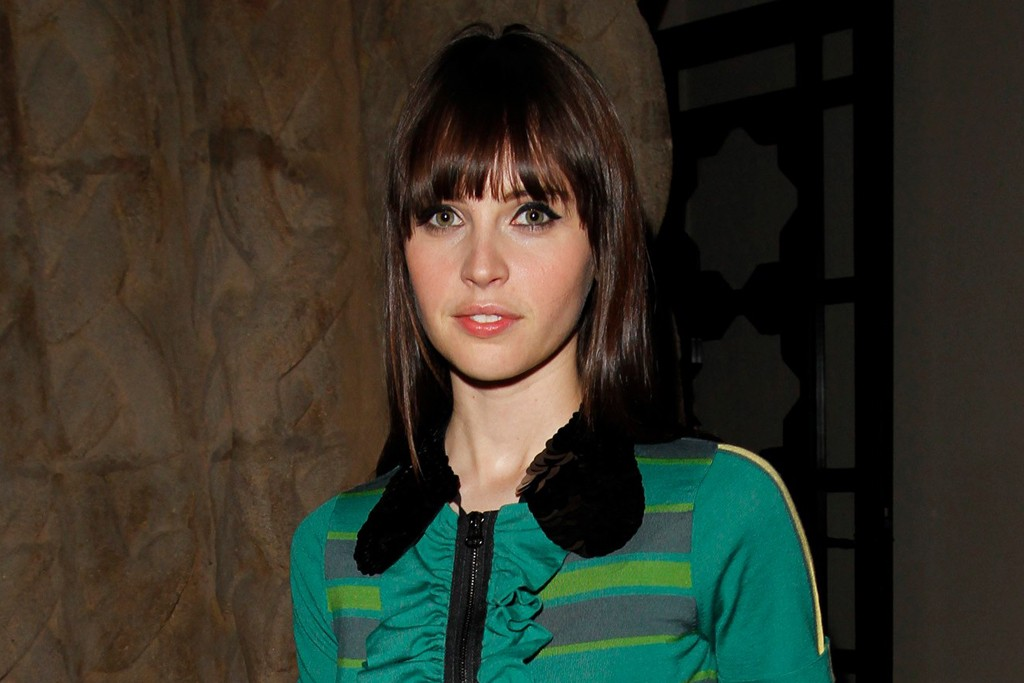 Felicity Jones in Marni for H&M.