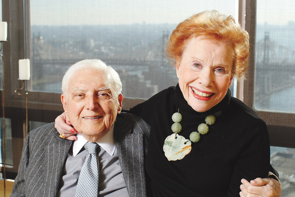 Marvin and Lee Traub in their Manhattan apartment.