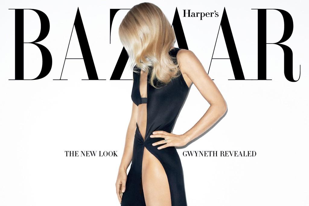 The cover of Harper's Bazaar.