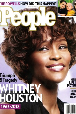 Whitney Houston on the cover of People magazine.