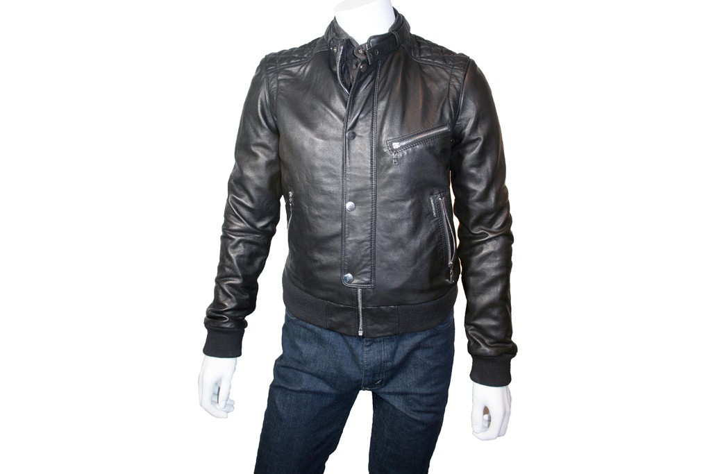 A Members Only leather jacket from the fall '12 line.