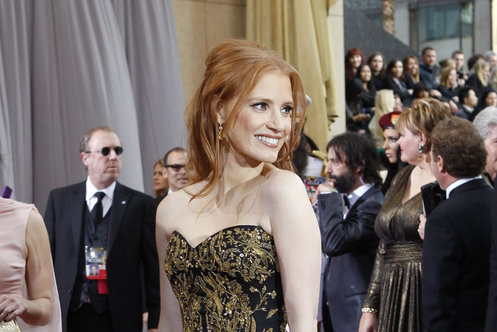 Jessica Chastain in Alexander McQueen and Harry Winston.