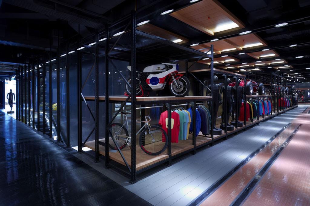 Pirelli PZero's flagship store in Milan.