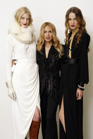 Rachel Zoe with models in her new collections.