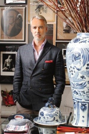 Michael Bastian in his new showroom.