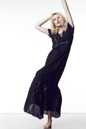 Dree Hemingway dress for Sandro