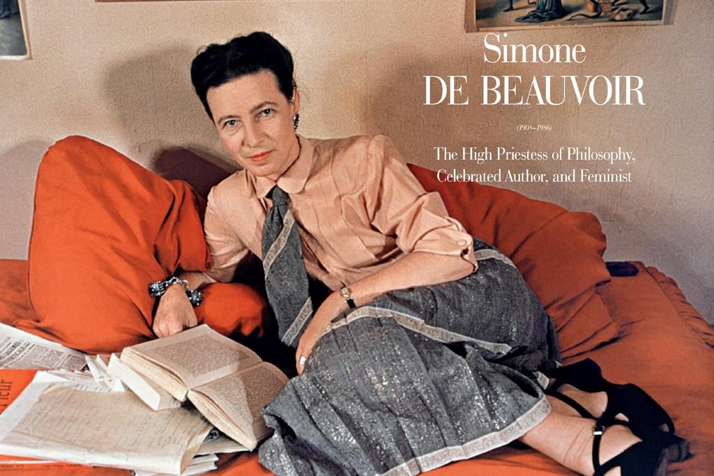 Simone de Beauvoir in Paris, 1948.