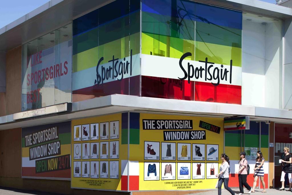The interactive billboards at Sportsgirl