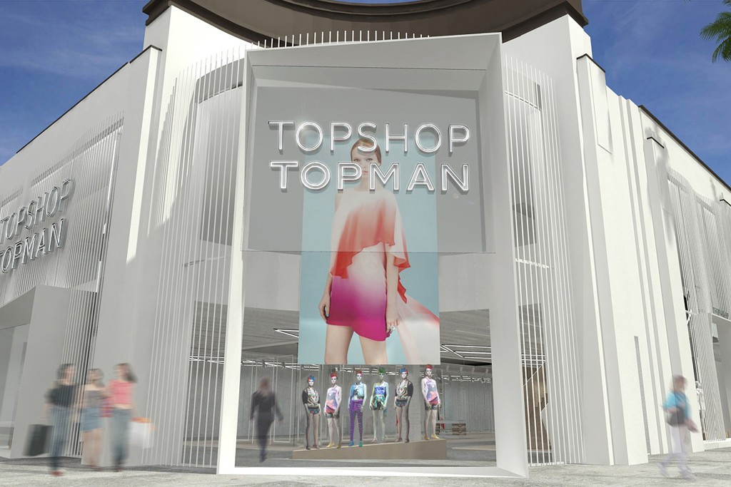 A rendering of the Topshop-Topman store in Los Angeles.