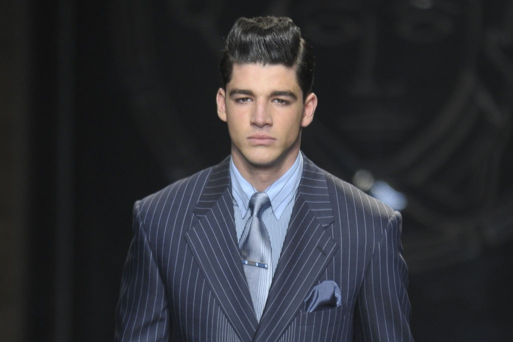 RETURN OF THE POWER SUIT: Versace Men's RTW Fall 2012