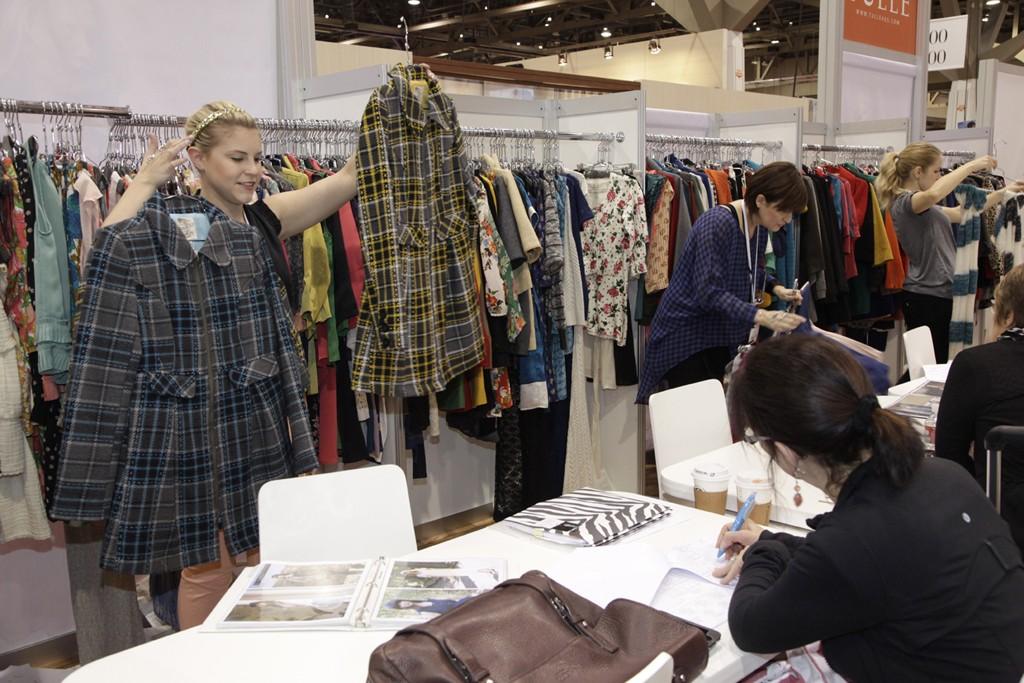 Printed coats were popular items for fall at WWDMAGIC.