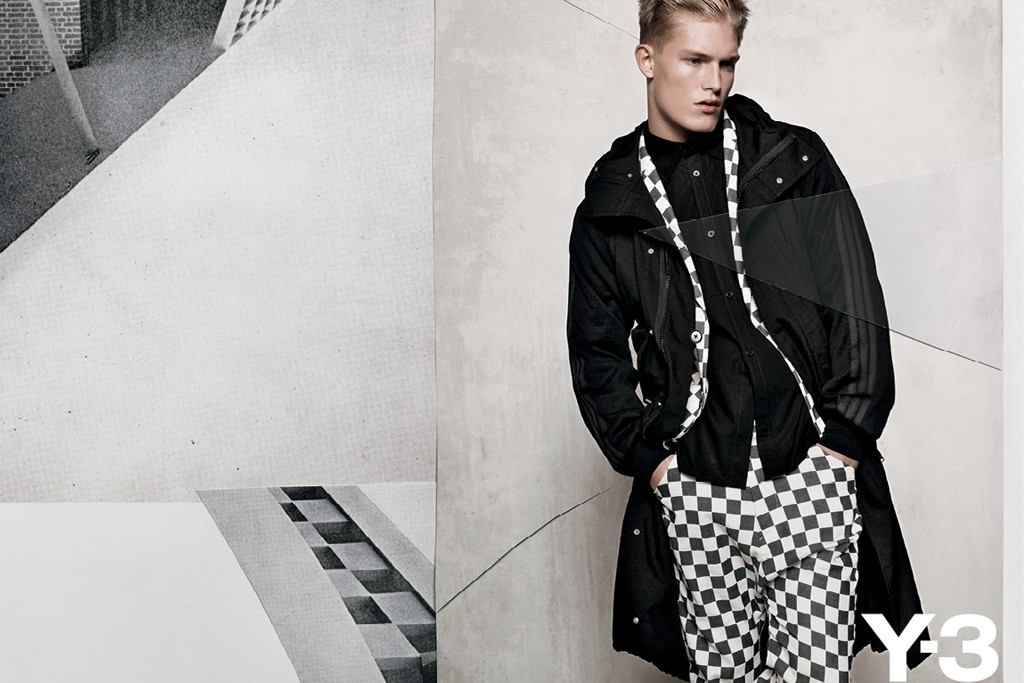 An image from Y-3's new spring campaign.