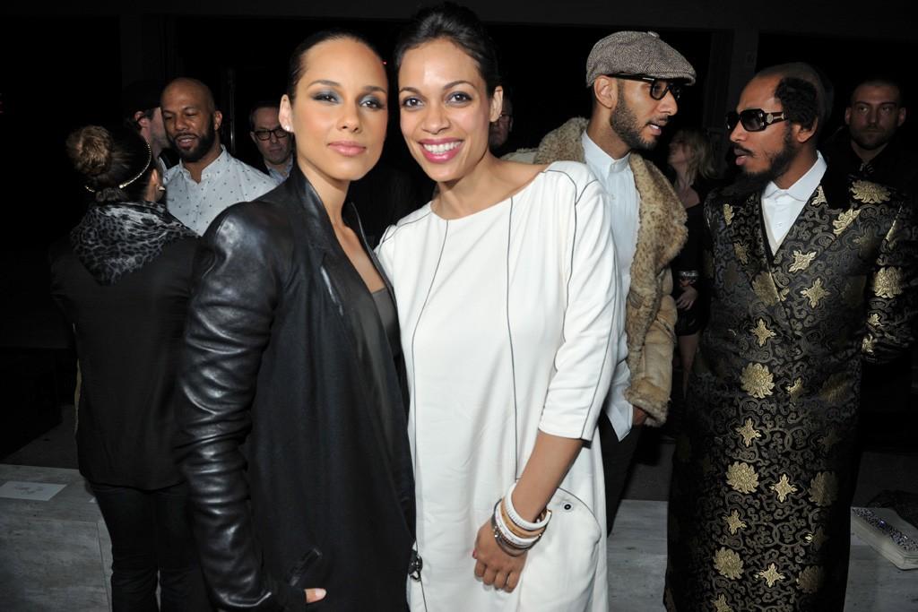 Alicia Keys and Rosario Dawson